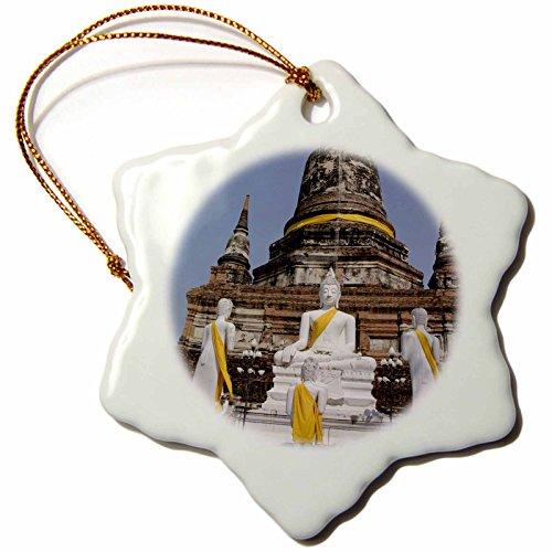3dRose orn_132991_1 Buddha, Wat Phra Chao Phya-Thai, Thailand As36 Cmi0612 Cindy Miller Hopkins Snowflake Ornament, Porcelain, 3'' by 3dRose