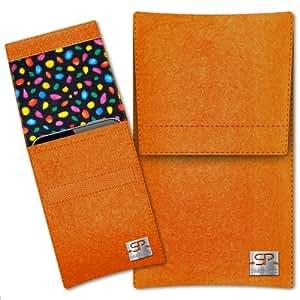 SIMON PIKE Cáscara Funda de móvil Sidney 13 naranja Kazam Trooper X5.0 Fieltro de lana