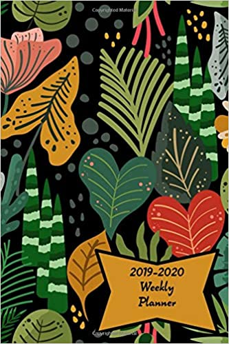 December Calendar 2020 With Goals 2019 2020 Weekly Planner: Jungle Houseplants Academic Weekly