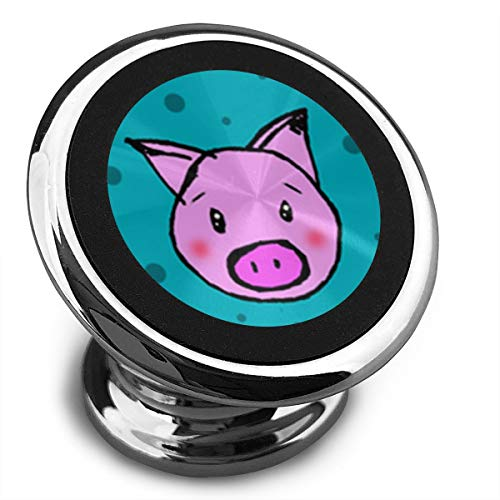(Pigs and Polka Dots Magnetic Car Phone Mount Holder - Magnetic Mounts 360 Degree Rotation from Dashboard - Universal Car Mount Holder Compatible with All Smartphones)