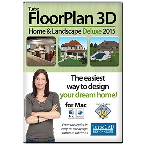TurboFLOORPLAN Home & Landscape Deluxe Mac 2015 [Download] by TurboCAD Design Group