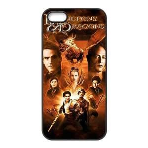 C3J35 Dungeons & Dragons funda iPhone alta resolución cartel P8D6WZ 5 5s funda caja del teléfono celular cubren WY9TSF3NB negro