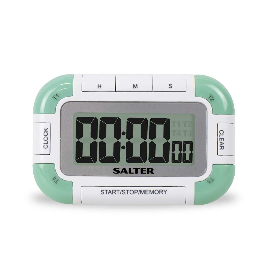 Bianco Colore Salter 392 WHXR Timer con Funzione Salva e 4 Diversi segnali acustici