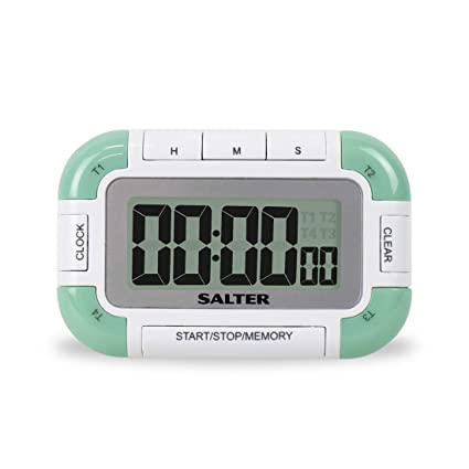 Salter 392 Whxr Multi Timer Mit , Verde / Color Blanco, 12.9 X 2.1 X 16.9 Cm