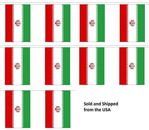 (30' Iran String Flag Party Bunting Has 30 Iranian 6