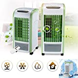 YLCOYO 4 in 1 Air Cooler Green Remote Control Fan Humidifier Air Freshener