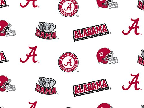 UNIVERSITY OF ALABAMA COTTON FABRIC-100% COTTON -ALABAMA FABRIC SOLD BY THE YARD-ALABAMA COLLEGE COTTON FABRIC BY SYKEL College Cotton Fabric