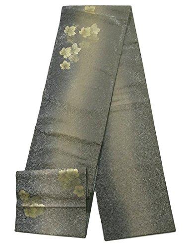 ホイットニーアンドリューハリディ探偵リサイクル 袋帯 作家物 金彩の蔦の葉 正絹