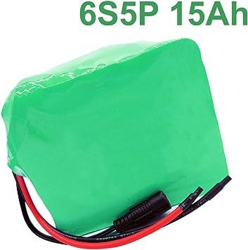 24V 15Ah Li-ion Paquete de batería e-bike bicicleta eléctrica 6S5P batería: Amazon.es: Bricolaje y herramientas