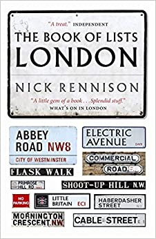 Book The Book Of Lists London by Nick Rennison (2007-04-26)