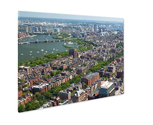 Ashley Giclee Metal Panel Print, Aerial View Of Downtown Boston Prudential Tower Ma USA, Wall Art Decor, Floating Frame, Ready to Hang 16x20, - Eye Prudential