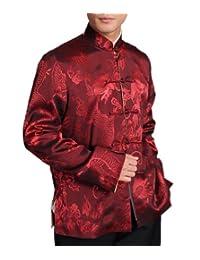 Chinese Tai Chi Kungfu Reversible Red / Gold Jacket Blazer 100% Silk Brocade