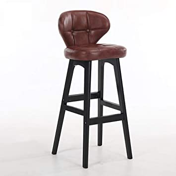 Backrest Solid Wood Bar Chair Bar Chair Bar Stool Bar Stool Simple Household High Chair Front Desk Chair. Bar Chairs