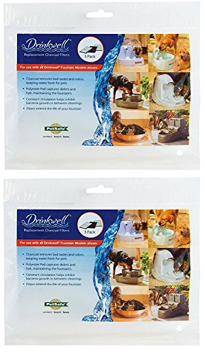 PetSafe Drinkwell Replacement Pet Water Fountain Filters, Carbon Filter for Dog and Cat Water Fountains