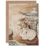 Helen Beatrix Potter The Mice Listen to The Tailors Lament Sealed Greeting Card Plus Envelope Blank Inside