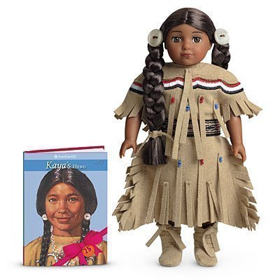 - American Girl Limited Edition 25th Anniversary Collectible Kaya Mini Doll and Book