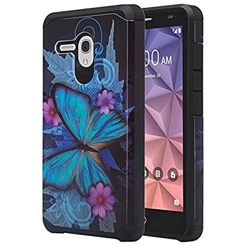 "JITTERBUG SMART (5.5"" SCREEN) Case ; JITTERBUG SMART [Heavy Duty] [Shock Absorption] [Drop Protection] [Hybrid Armor] Rugged Impact Phone Tuff Cover + Screen Protector & Stylus (PARIS (Jitterbug Phone Cover)"