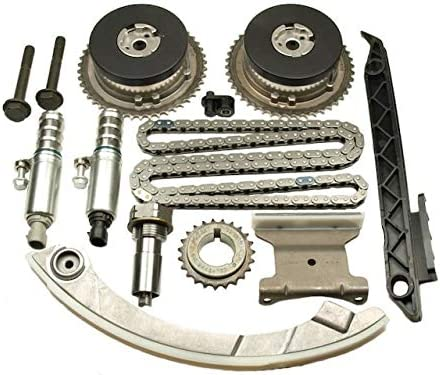 Compatible with 2011-2017 Chevy Equinox 2.4L 4-Cylinder Front Timing Chain Kit with VVT Sprockets and VVT Solenoids