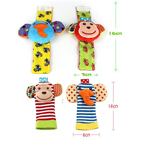 SKK Baby Animal Wrist Rattle and Foot Finder Socks Gift Toy
