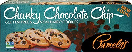 Pamela's Products Gluten Free Cookies, Chunky Chocolate Chip, 7.25-Ounce Boxes (Pack of 6) by Pamela's Products
