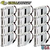 12x Exell Battery Door Lock 6V 4-Cell Battery