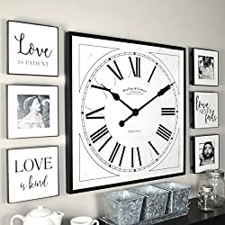 FirsTime & Co. 00262 Wall Clock, White