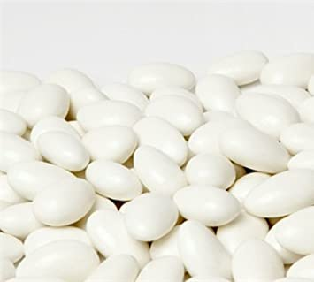 jordan almonds by its delish white 5 lbs