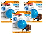 Orka Tennis Ball, Durable Rubber Fetch Toy for Aggressive Chewers, 3 Pack