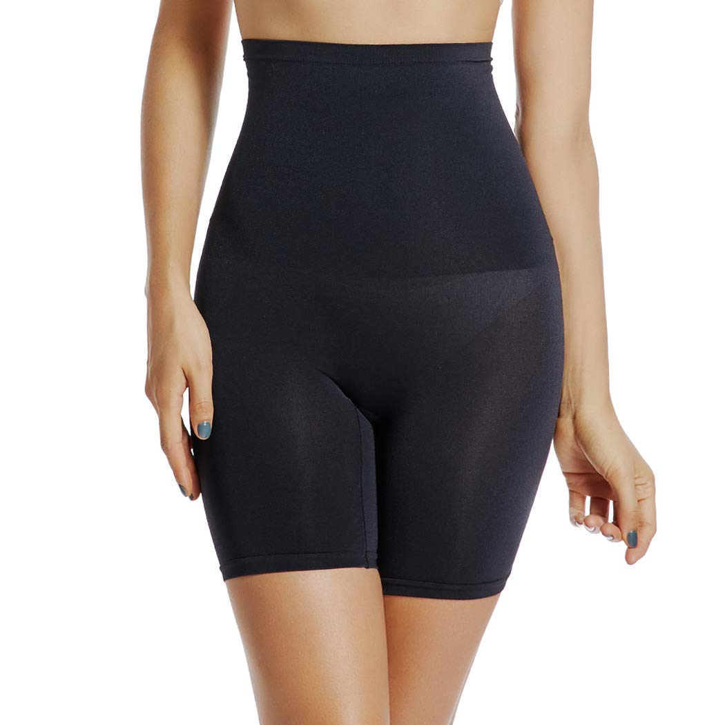 Black 2 Light Control Tummy Control Shapewear Shorts Women High Waist Body Shaper Thigh Slimmer Slip Short Panty