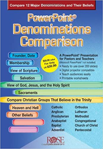 Denominations Comparison PowerPoint Presentation Chart 2nd Revised Ed Edition