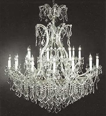 """Large Foyer / Entryway Maria Theresa Empress Crystal (tm) Chandelier Lighting! H 52"""" W 46"""" Great for the Dining Room, Foyer, Living Room!"""
