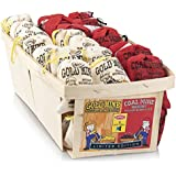 Old Fashioned Bubble Gum Candy: Fruit Flavor Chewing Gum in Individual Drawstring Bags - Vintage Assorted Bulk Candy Packs for Parties and Special Events - 24 Coal Mine Bags and 24 Gold Mine Bags