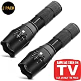Light Tactical Flashlight, 1600 Lm Ultra Bright - Cree Xml T6 Led Taclight As Seen on TV with 5 Light Modes