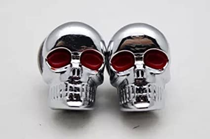 "7 Chrome /""Black Eye Skull/"" Windshield Bolts for Harley Windscreen Wind Shield"