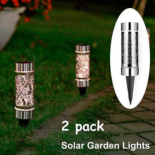 Solar Powered Bollard Garden Lights in US - 7