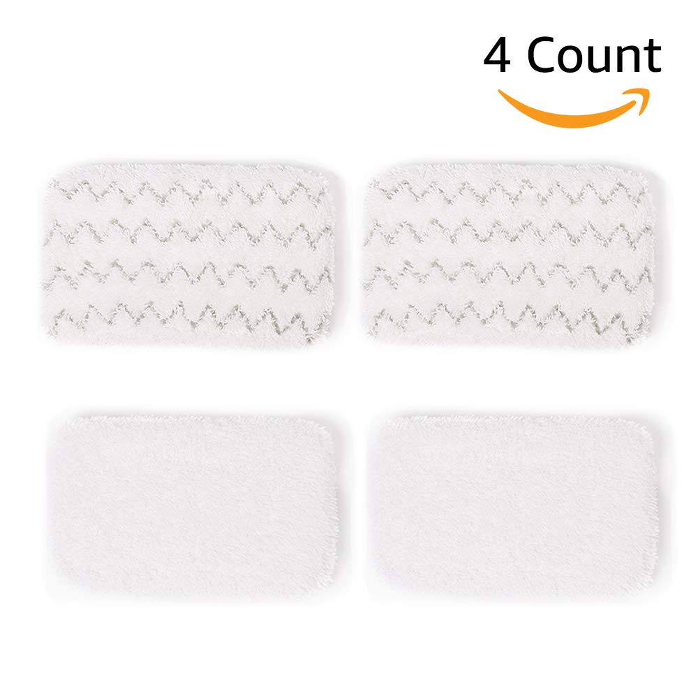 Bonus Life Steam Mop Pads 1252 for Bissell Symphony Steam Mop 1132 1132K 1132P 1132R 1132X 1530 1543 1543T 1632 1652, 4 Pack