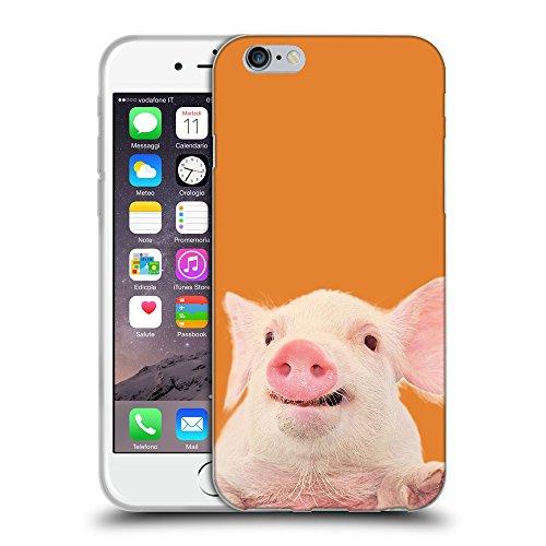 GoGoMobile Coque de Protection TPU Silicone Case pour // Q05730623 Cochon mignon Cadmio Arancio // Apple iPhone 7