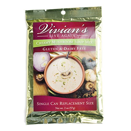 Gluten Free Cream of Mushroom Soup Mix by Vivian's Live Again- Dairy Free Single Packet (Cream Sausage)
