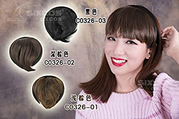 Amazon.com   Liu sheet invisible false air flow of the sea oblique bangs  wig piece thin flat head curtain fake bangs bangs headbands   Beauty d2070c2500f