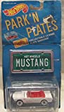 hot wheels license plate - 1988 Mattel PARK 'N PLATES Hot Wheels '65 Mustang Convertible License Plate Garages