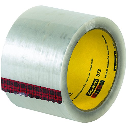 Partners Brand PT90553726PK 3M 372 Carton Sealing Tape, 110 yd. Length, 3