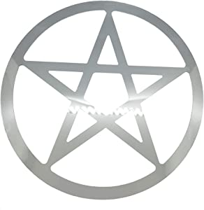 "Black Bazaar 12"" Stainless Steel Metal Pentagram Pentacle Home Decor Art Star Sign Decoration Hanging Home Wall Sacred Geometry Art"