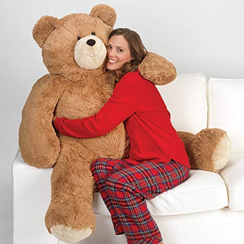 Bear Plush Jumbo Teddy - Vermont Teddy Bear - Giant Teddy Bear, 4 Ft Plush Bear Stuffed Animal, Brown