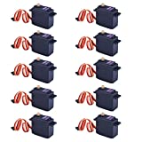 Kuman 10 Pcs MG996R Metal Gear Torque Digital Servo Motor For RC Model Car Boat Helicopter KY62