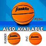 Franklin Sports Soft Indoor Mini Foam Basketballs - 3 Pack - Slam Dunk Approved - Indoor Game Room Replacement Basketballs - No Pump Needed, Orange