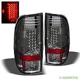 Smoked 2008-2015 F250 F350 Super Duty LED Tail Light Rear Smoke Brake Lamp Pair L+R 2009 2010 2011 2012 2013 2014