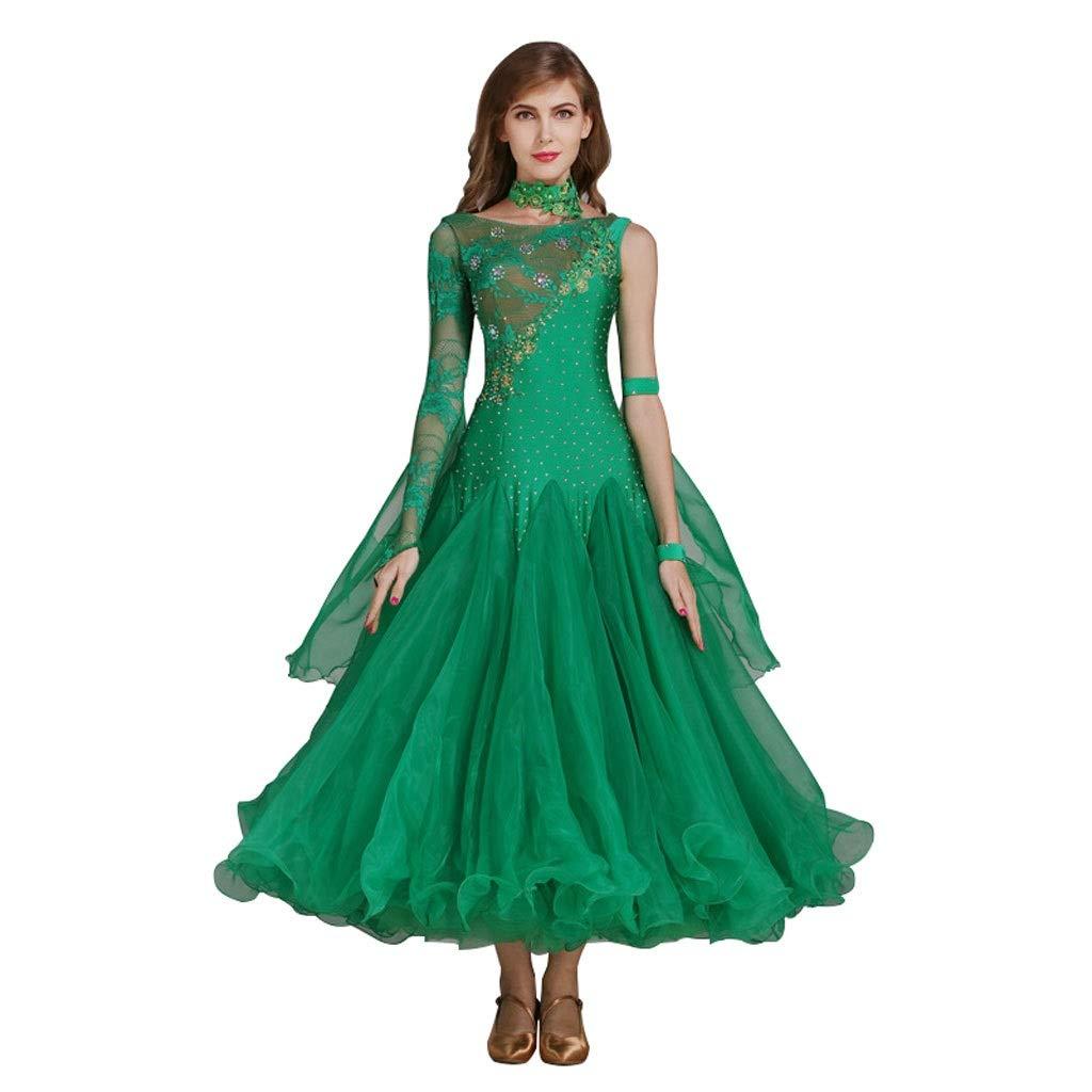 Frauen Ballroom Dance Kleid Mit Langen Ärmeln, Waltz Waltz Waltz Modern Dance Kostüm Wettbewerb Performance Dance Outfit Lace B07PTBLSJD Bekleidung Meistverkaufte weltweit da583d