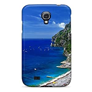 Anti-scratch And Shatterproof Wonderful Coastal Village On A Hill Phone Case For Galaxy S4/ High Quality Tpu Case