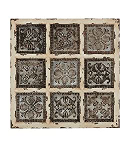 "Deco 79 55507 Metal WD Wall Plaque, 31 by 31"", Multi"
