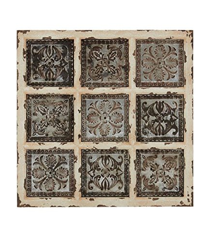 Deco 79 Metal WD Wall Plaque, 31 by 31